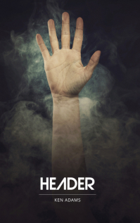 Lonely help hand Horror Book Cover Template