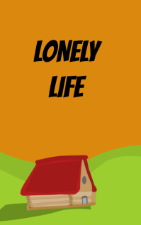 Lonely life book cover design