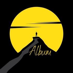 Loner illustration Album Song Cover Okładka albumu template