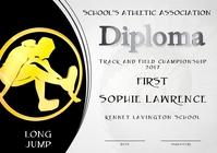 long jump diploma first