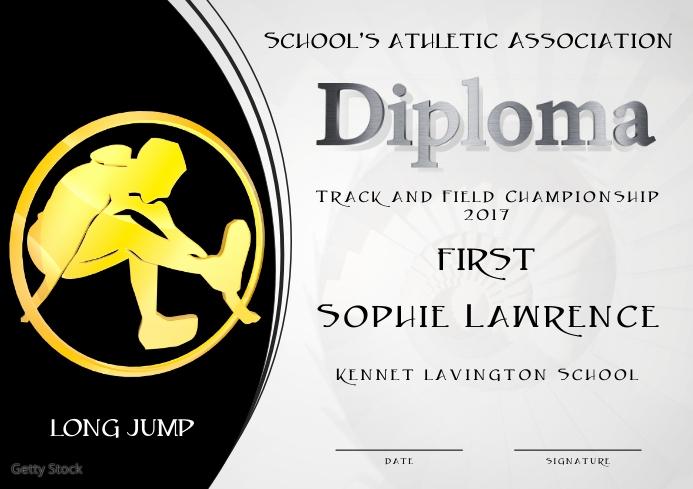 long jump diploma