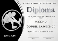 long jump diploma second