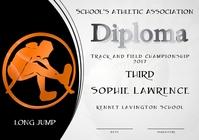 long jump diploma third