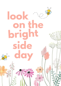 Look On The Bright Side Day A6 template