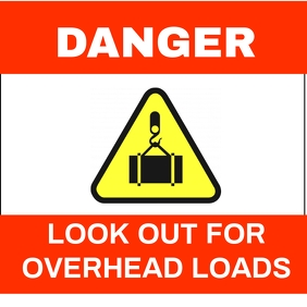 LOOK OUT FOR OVERHEAD LOADS TEMPLATE Logo