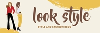 Look Style Blog Banner 2 x 6 template