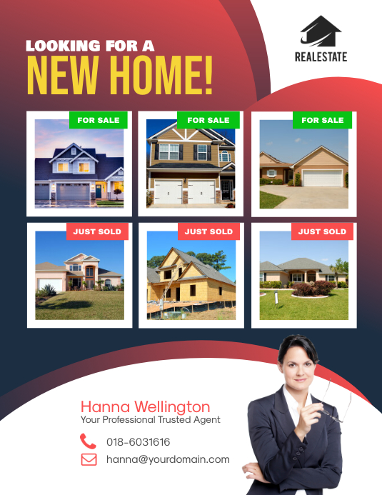 Looking for a New Home Real Estate Flyer
