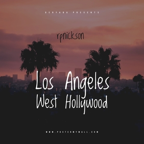 Los Angeles CD Mixtape Cover Template