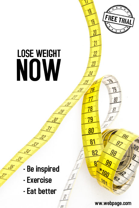 Lose weight - health and fitness poster
