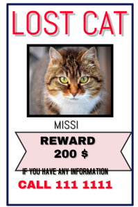 image relating to Printable Lost Pet Flyer identify 1,480+ Dropped Animal Customizable Layout Templates PosterMyWall