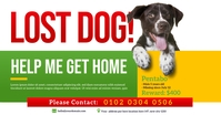 Lost Dog Ad Facebook Shared Image template