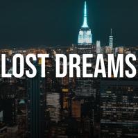 Lost dreams city photo album art cover Pochette d'album template