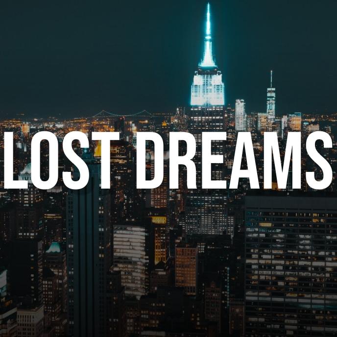 Lost dreams city photo album art cover 专辑封面 template
