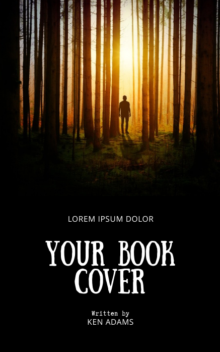Lost in the woods book cover template