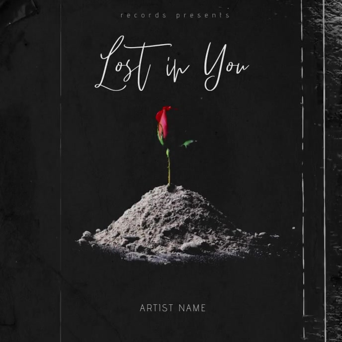 Lost in You - Music Album Cover Template 专辑封面