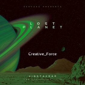Lost Planet Art CD Cover Template