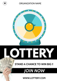 lottery flyer A3 template