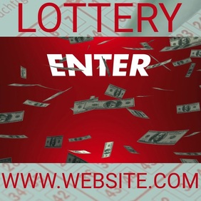 LOTTO LOTTERY ENTER TO WIN design Template Square (1:1)