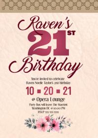 Louie Vuitton birthday invitation