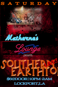 Lounge Bar Band Stage Flyer