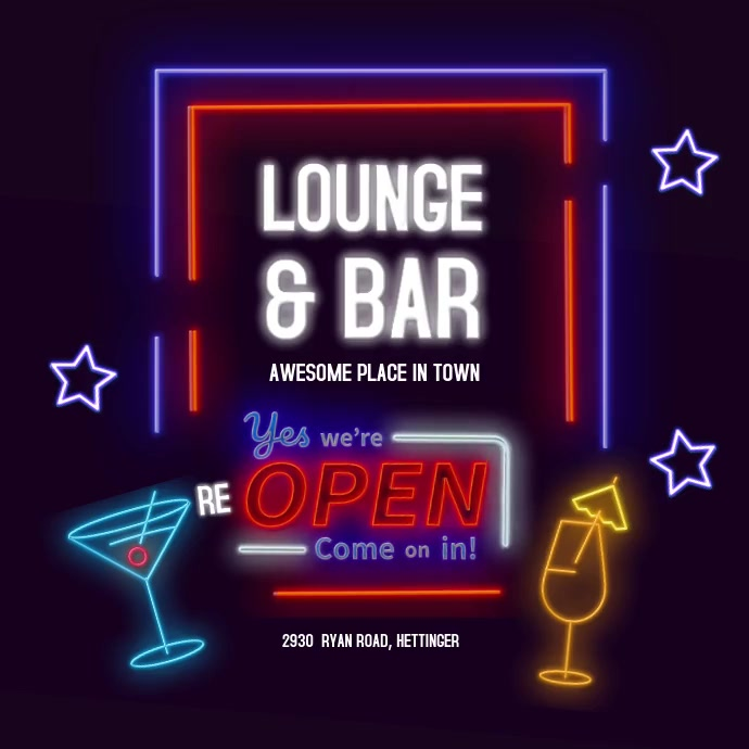 Lounge bar Square (1:1) template