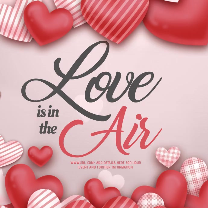Love, Valentines, Valentines event Kvadrat (1:1) template