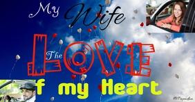 love, wife, heart Facebook-gebeurtenisomslag template