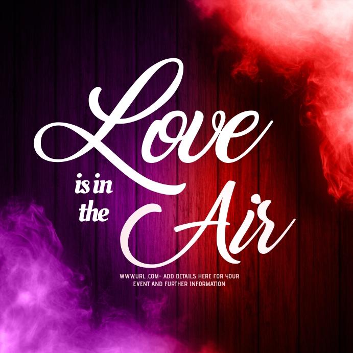 Love,Valentines Vierkant (1:1) template