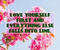 LOVE AND FALLS QUOTE TEMPLATE Großes Rechteck