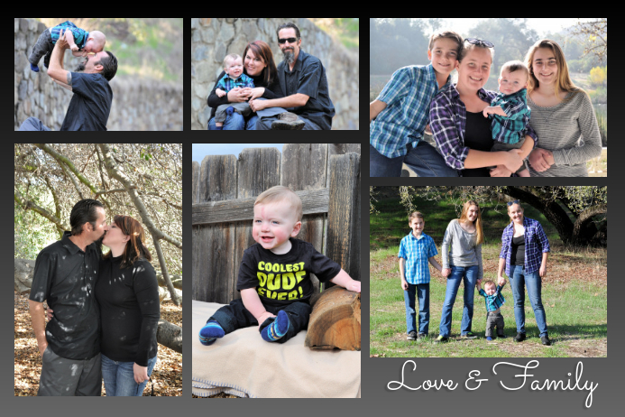 Love and Family Plakat template