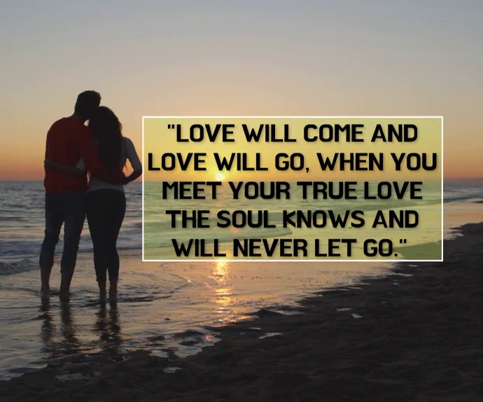 LOVE AND SOUL QUOTE TEMPLATE Persegi Panjang Besar
