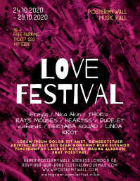 Love Festival Event Flyer Template