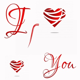 LOVE HEART SHAPE SHAPED greeting Template
