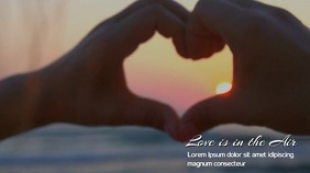 LOVE HEART VIDEO TEMPLATE Ekran reklamowy (16:9)