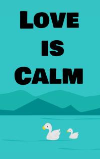 Love is calm Portada de Kindle template