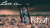 Love is Patient Miniatura do YouTube template