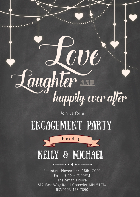 Love laughter and ever after invitation