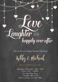 Love laughter and happily ever invitation