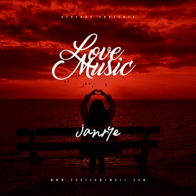 Love Music CD Music Cover Template