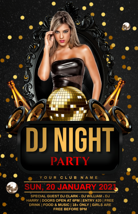 Dj night Tabloide template