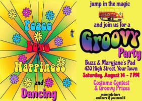 Love Peace Happiness Dancing Invitation
