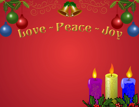 Love Peace Joy Candles