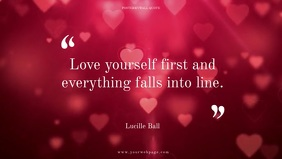 Love Quote design facebook banner video Facebook-covervideo (16:9) template