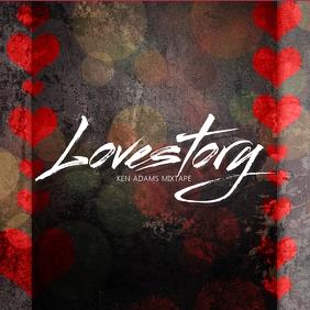 love Romantic Album Cover Template
