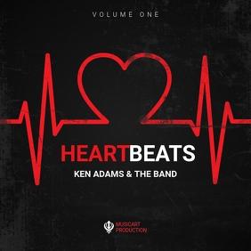 Love songs beats album cover art design template