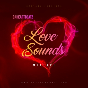 Love Sounds Mixtape CD Cover Template