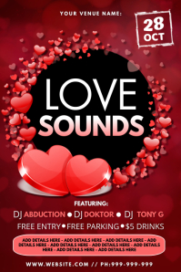 Love Sounds Poster template