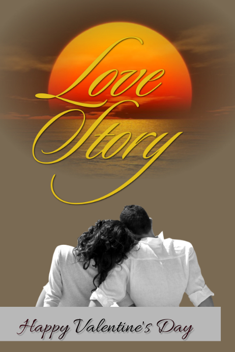 Love Story Póster template