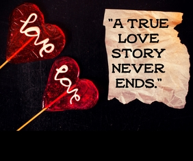LOVE STORY QUOTE TEMPLATE Large Rectangle