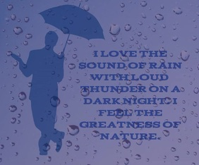 LOVE THE RAIN AND THUNDER TEMPLATE Retângulo médio